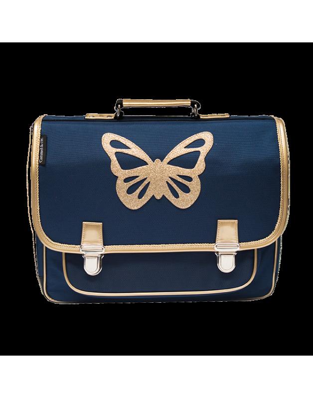 Grand Cartable Papillon Bleu
