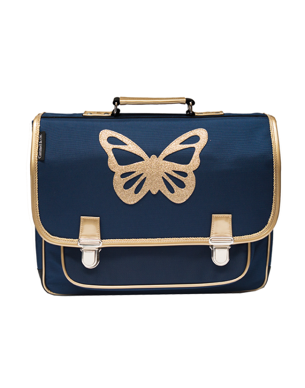 Large schoolbag Blue butterfly