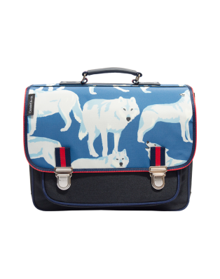 Cartable Moyen Loups blancs