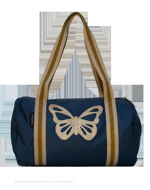 Week-end bag navy Butterfly