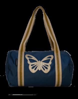 Sac polochon Papillon bleu