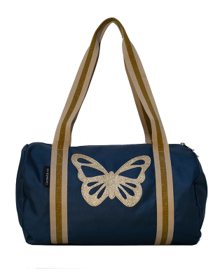 Week-end bag navy Butterfly