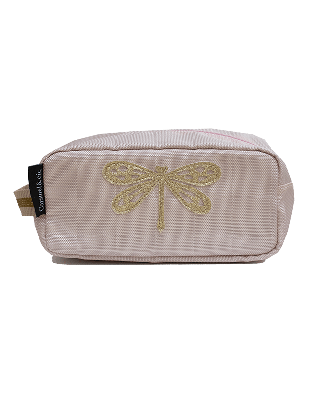 Toiletry bag pink Dragonfly