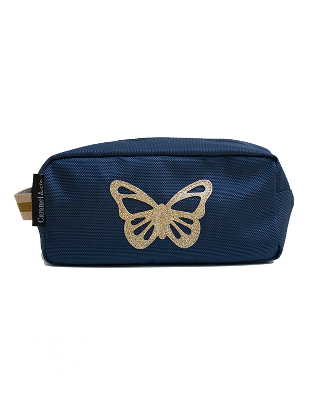 Toiletry bag navy Butterfly