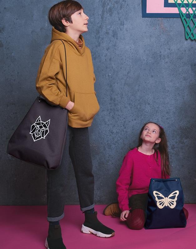 Small sport bag navy Butterlfy