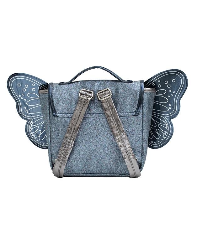 Butterfly bag night blue glitter