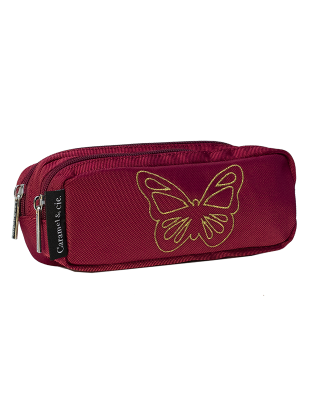 Double pencil case Red...