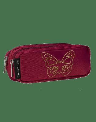 Trousse double Papillon Rubis