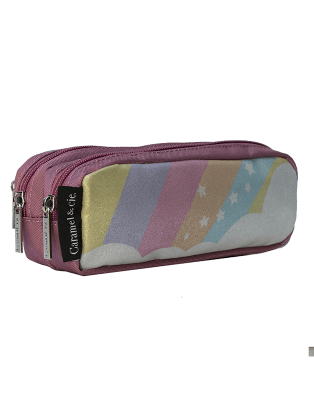 Double pencil case Silver...
