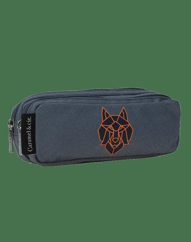 Double pencil case Blue Wolf