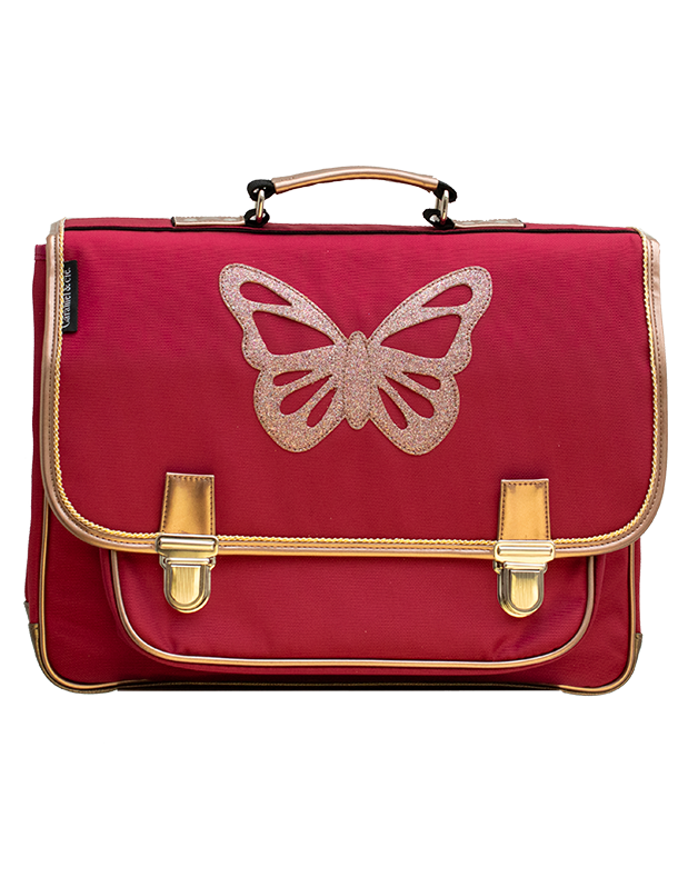 Large Satchel Red Butterfly
