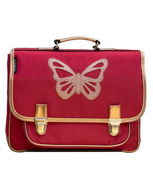Grand cartable Papillon Rubis