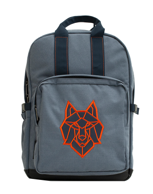Large Blue Wolf Backpack