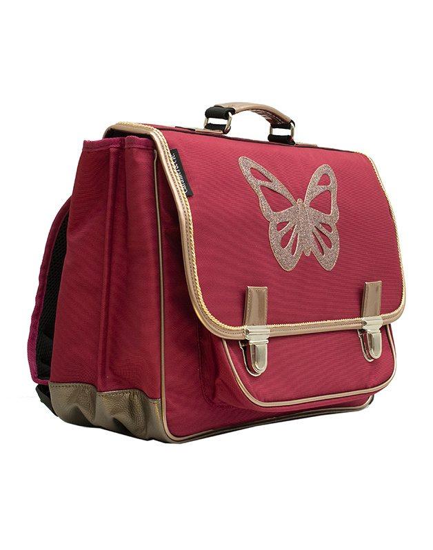 Medium schoolbag Ruby Butterfly