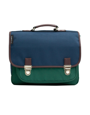 Medium schoolbag Color Block 1