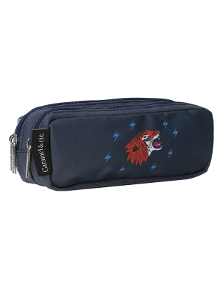 Double pencil case Blue Grrr