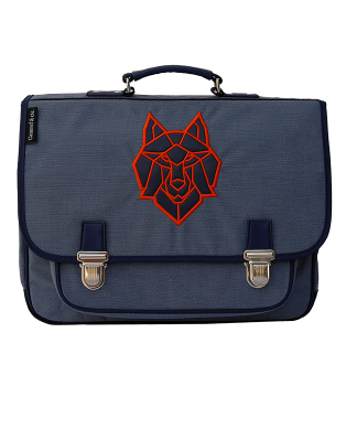 Large Satchel Blue Wolf
