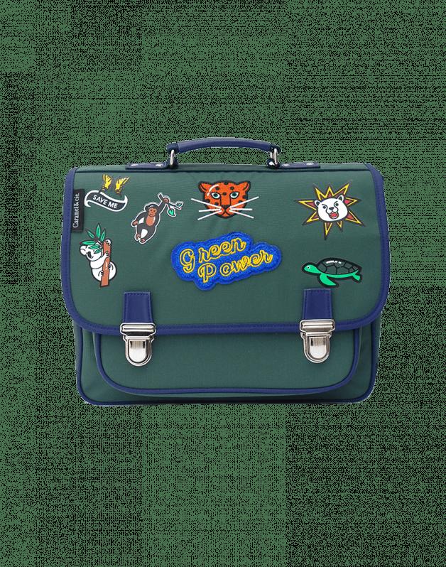 Medium schoolbag Green Power