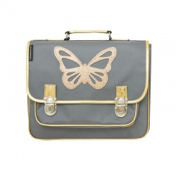 Cartable Medium papillon gris