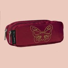 🤫🦋Chuut, ne dérange pas le gracieux papillon doré délicatement posé sur ta trousse Caramel & cie. 🤩  💕Nos trousses de la nouvelle collection sont en ligne 💕 . #carameletcie #caramel_et_cie #kidsandfamily #kidslifestyle #kids #instakids #enfance #cartable #binder #sacados #bag #happiness #nouvellecollection #newcollection #papillon #buterfly
